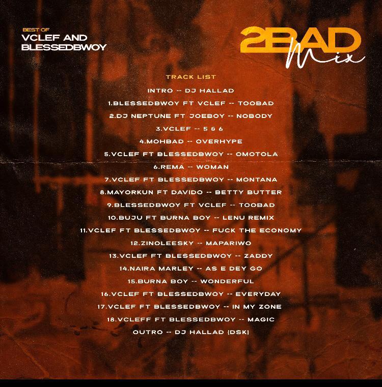 [MIXTAPE] DJ HALLAD – 2 BAD MIX