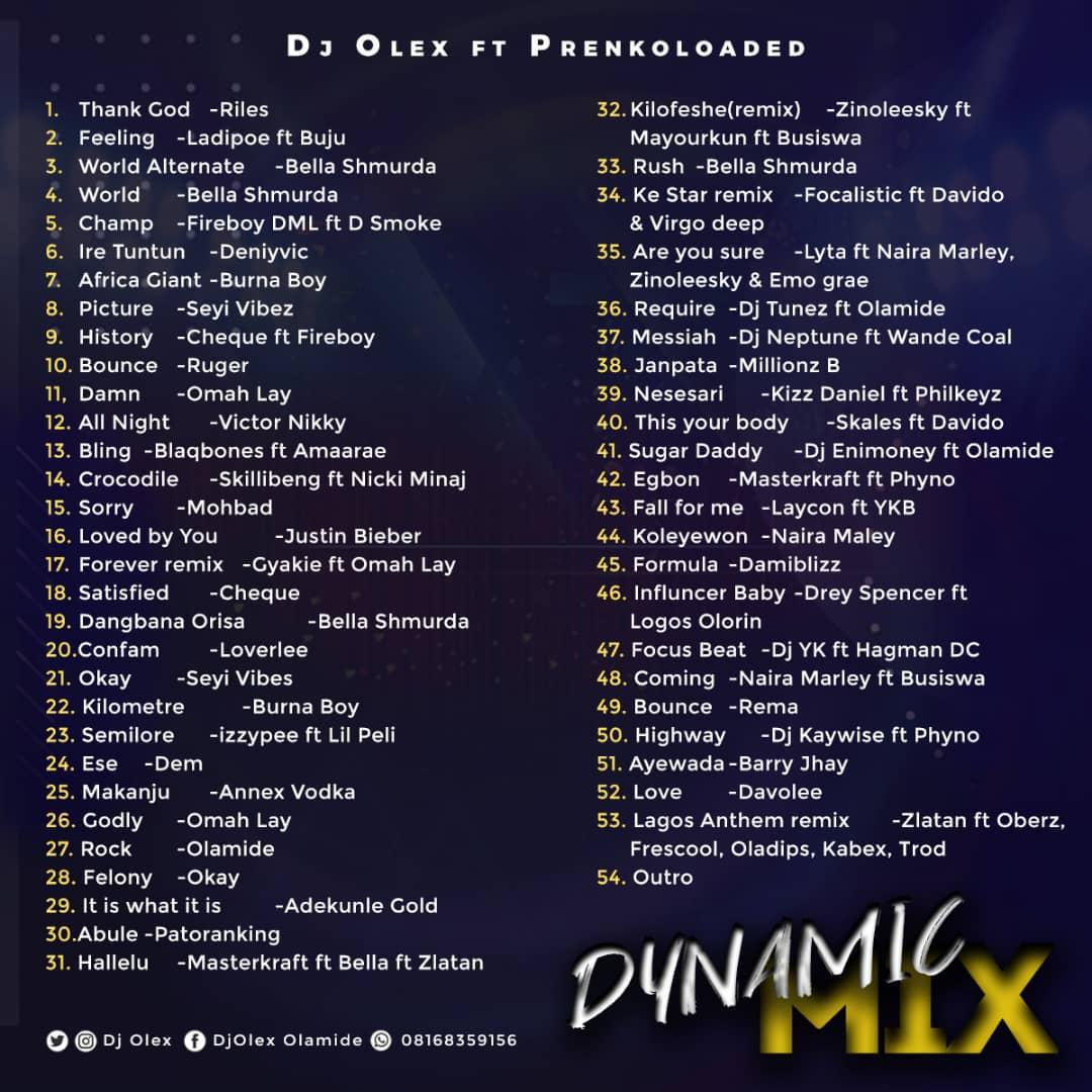 [MIXTAPE] DJ OLEX x PRENKOLOADED – DYNAMIC MIX